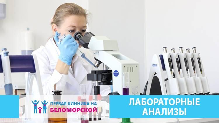 Лабораторные анализы на Беломорской